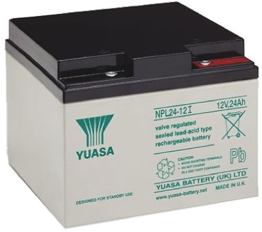 yuasa npl24 12 lead acid battery 12v 24ah. Black Bedroom Furniture Sets. Home Design Ideas